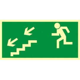Kierunek do wyjścia drogi ewakuacyjnej schodami w dół 1