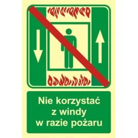 Nie korzystać z windy w razie pożaru