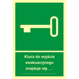 Klucz do wyjścia ewakuacyjnego 1