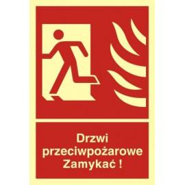 Drzwi przeciwpożarowe ZAMYKAĆ! 1