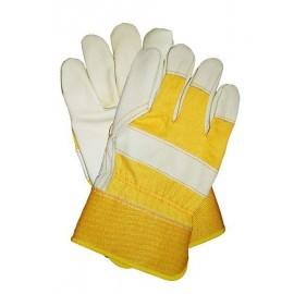 Rękawice ochronne wzmacniane skórą bydlęcą RLCJMY