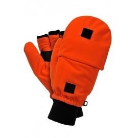 Rękawice ocieplane wykonane z pomarańczowego polaru RDROPO