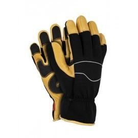 Rękawice ochronne, ocieplane, wykonane ze skóry świńskiej połączonej z tkaniną RMC-TAURUS