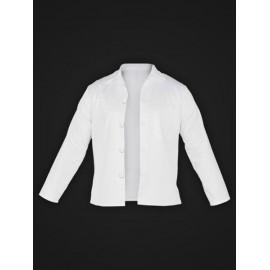 Bluza ochronna z długim rękawem, zapinana 65% poliester, 35% bawełna FOOD+JBU