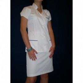 Ubranie medyczne z elanobawełny ze spódnicą 2-45 gracja