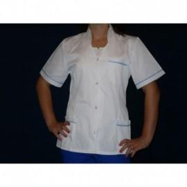 Bluza damska lekarska STÓJKA 65% Poliester, 35% Bawełna