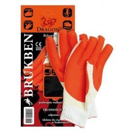 Rękawice ochronne wykonane z dzianiny powlekana gumą BRUKBEN