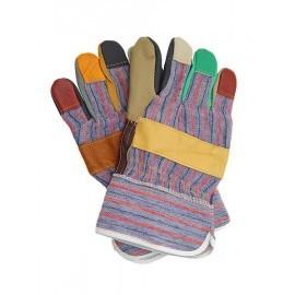 Rękawice ochronne wzmacniane skórą bydlęcą RLKPAS